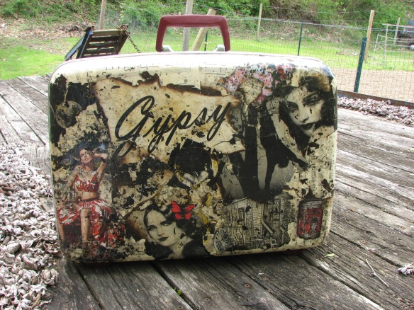This is my Gypsy design vintage suitcase ~ you can purchase it through https://www.etsy.com/shop/earthmother195